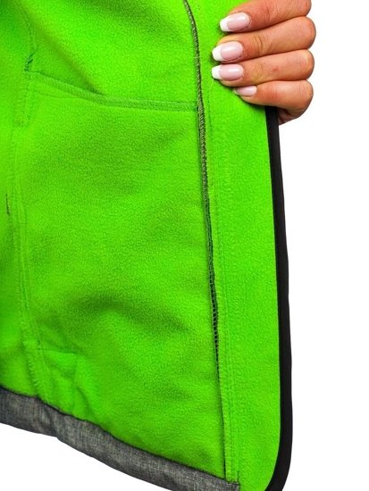 Šedo-zelená dámska softshellová prechodná bunda BOLF AB053