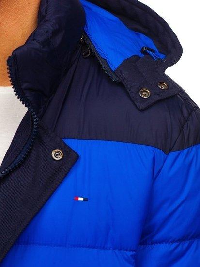 Tmavomodrá pánska športová zimná bunda Bolf 1975