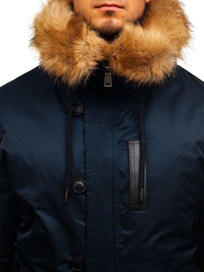 Tmavomodrá pánska zimná bunda BOLF 1826