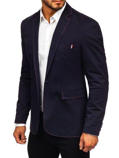 Tmavomodré pánske elegantné sako Bolf Rbr002-A