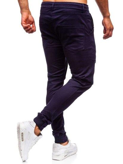 Tmavomodré pánske kapsáčové joggery Bolf 1003