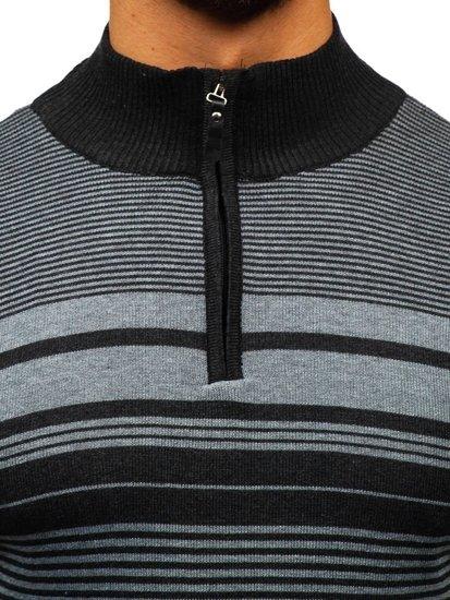 Tmavošedý pánsky sveter BOLF BM6131