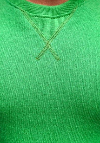 Zelená pánska mikina bez kapucne BOLF 44S