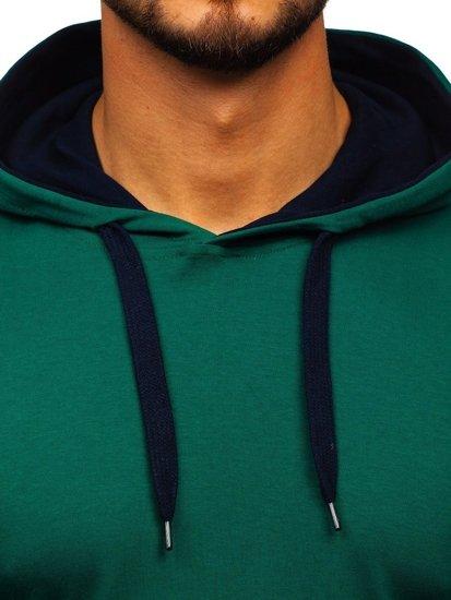 Zelená pánska mikina s kapucňou Bolf 145380