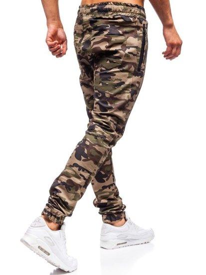 Zelené pánske jogger nohavice BOLF 0803