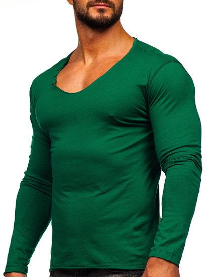 Zelený pánsky nátelník bez potlače BOLF 547