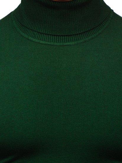 Zelený pánsky rolák bez potlače Bolf YY02