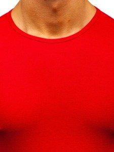 Červené pánske tričko bez potlače BOLF 0001