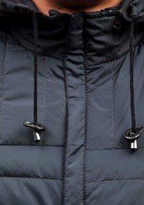Čierna pánska športová prechodná bunda Bolf m503