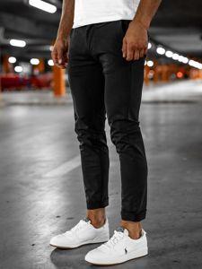 Čierne pánske tričko s potlačou Bolf SS11095