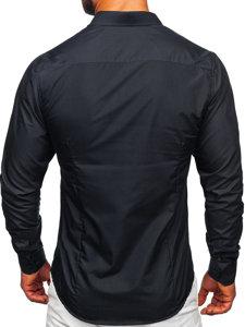 Grafitová pánska elegantá košeľa s dlhými rukávmi BOLF 1703