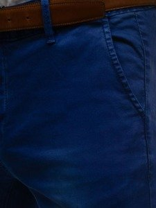 Tmavomodré pánske chinos nohavice BOLF 7315